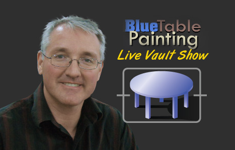 Blue Table Painting Live